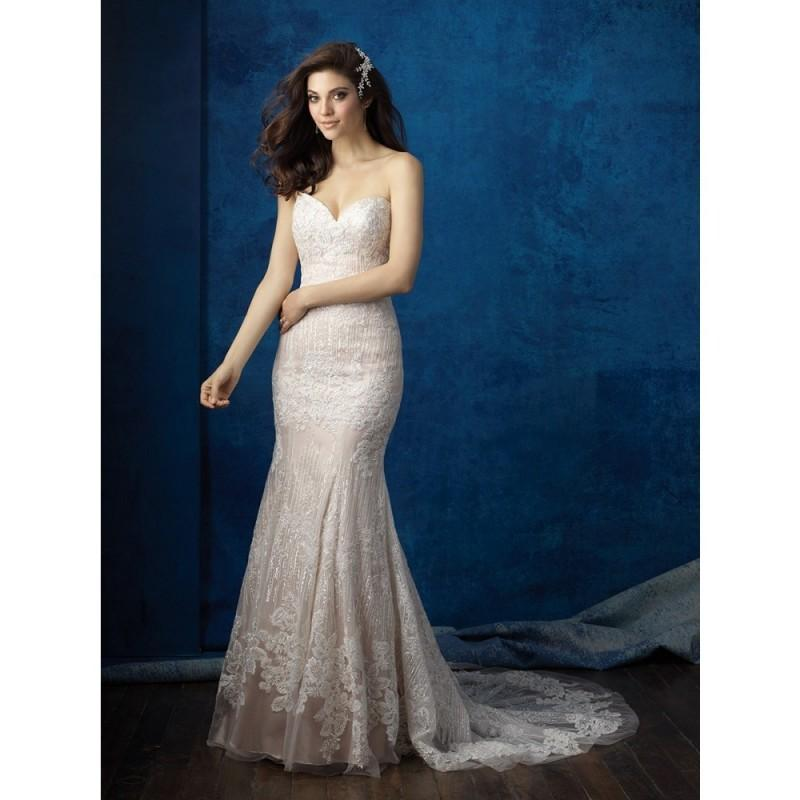 Wedding - Allure Bridals 9350 Wedding Dress - Strapless, Sweetheart Long Allure Bridals Fitted Dress - 2017 New Wedding Dresses