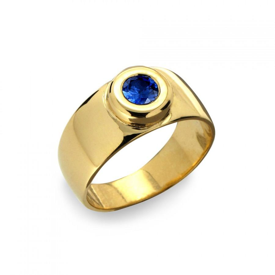 It is a photo of AURA Gold Sapphire Band, Sapphire Wedding Band, Blue Sapphire Ring