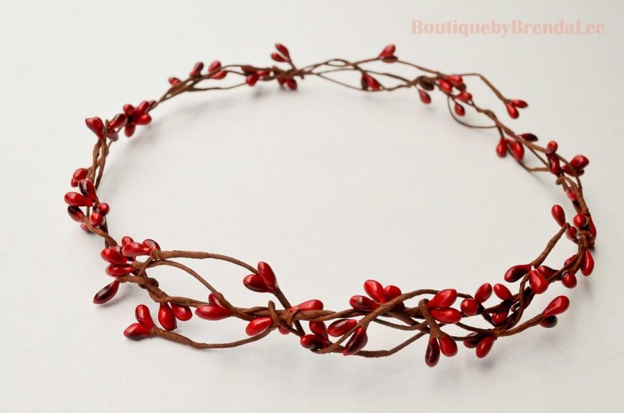 Свадьба - Whimsical Red Pip Berry Crown