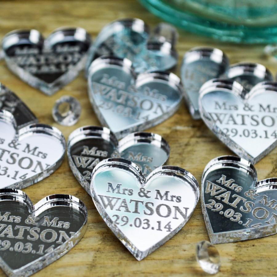 Personalised heart wedding table centerpieces decorations 2cm personalised heart wedding table centerpieces decorations 2cm mirror decor mrs mrs wedding favours wedding accessories anniversary junglespirit Images