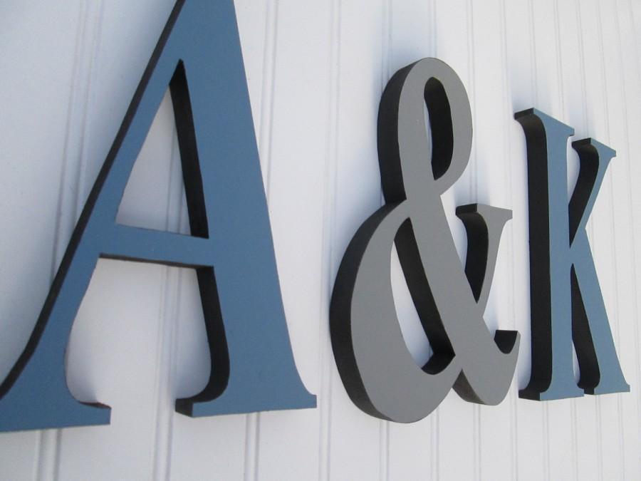 Mariage - Wall Letter Set, Monogram Letter Set, Nursery Letters, Couples Initials Set, Wedding Letters, Discount Letter Set, 3 Letter Set, Ampersand