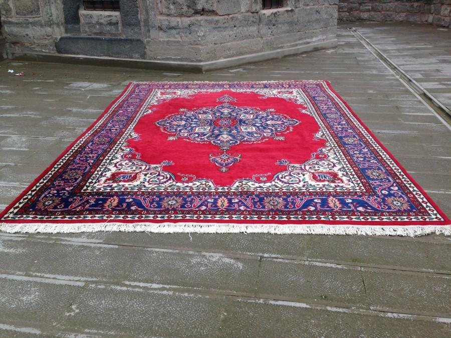 Düğün - Large Rug,12,1X8,8 Ft,Area Rug,HomeDecor Rug,Handmade Rug,Turkish Rug,Wool Rug,Vintage Rug,Kilim Rug,Carpet,Rug,Red Oushak Rug,Handwoven Rug