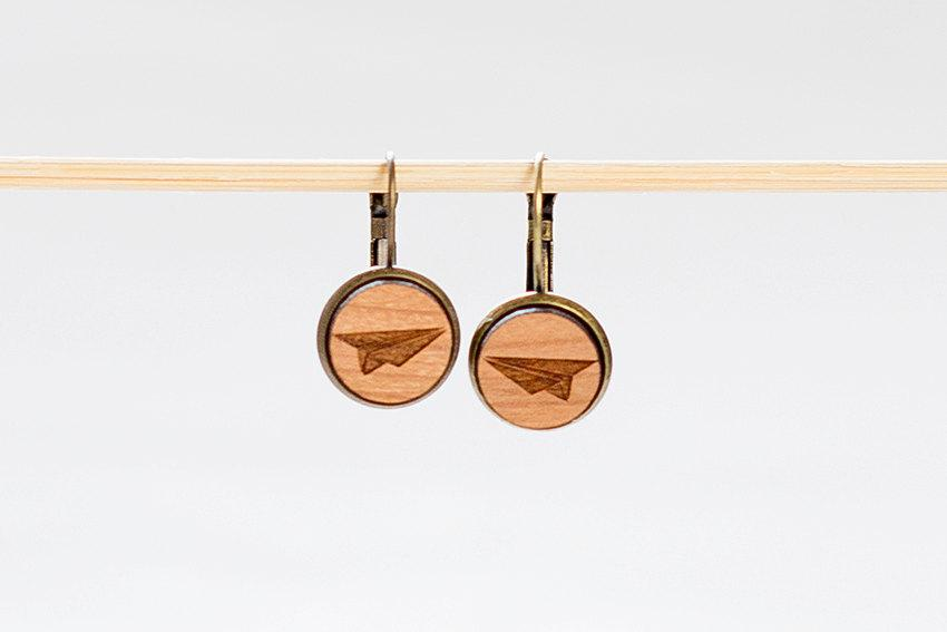 Wedding - Wooden Earrings