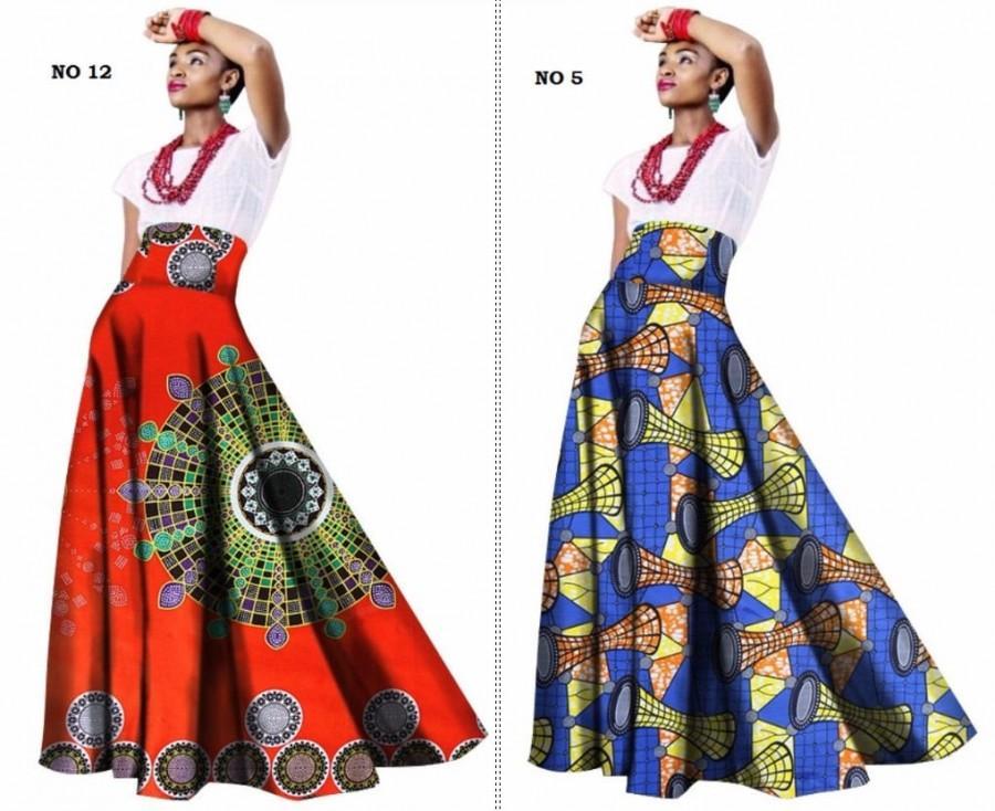 African Women Clothing Long Maxi Dashiki Print Skirt For Women