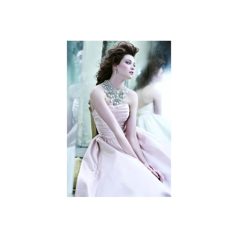 Wedding - Lazaro 3265 - Strapless Pink Fall 2012 Lazaro Ball Gown Full Length - Nonmiss One Wedding Store