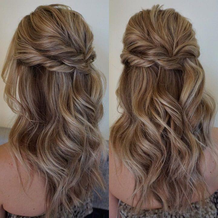 32 Pretty Half Up Half Down Hairstyles Partial Updo Wedding