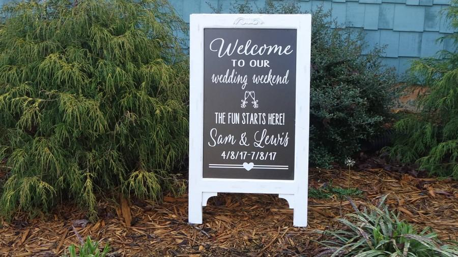 Свадьба - Wedding Chalk Board Sign, Store Front, Baby Shower Idea, Large Chalkboard, Welcome Wedding Sign, Barn Wedding Sign