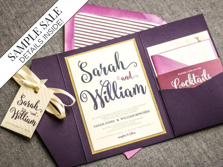 purple wedding invitations purple and gold invitations glitter