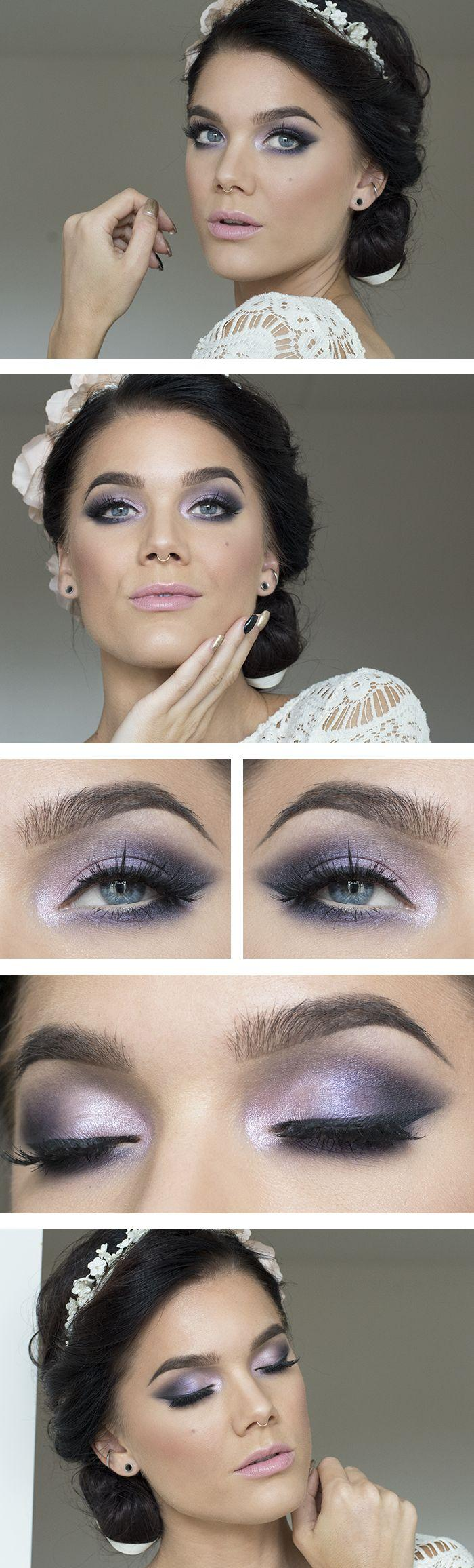 Boda - Todays Look – Bridal Purple - Lindas Sminkblogg