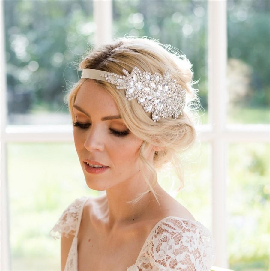 Mariage - Sophia crystal bridal headband vintage style. Handmade beautiful bridal headpiece. Bridal hair accessories. Wedding headband. Bridal tiara