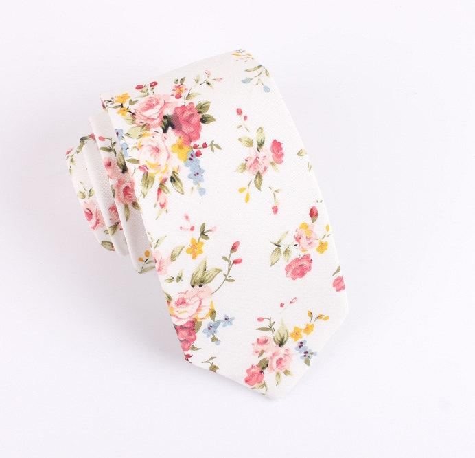 Wedding - Skinny Floral Tie (2.36 Inches)
