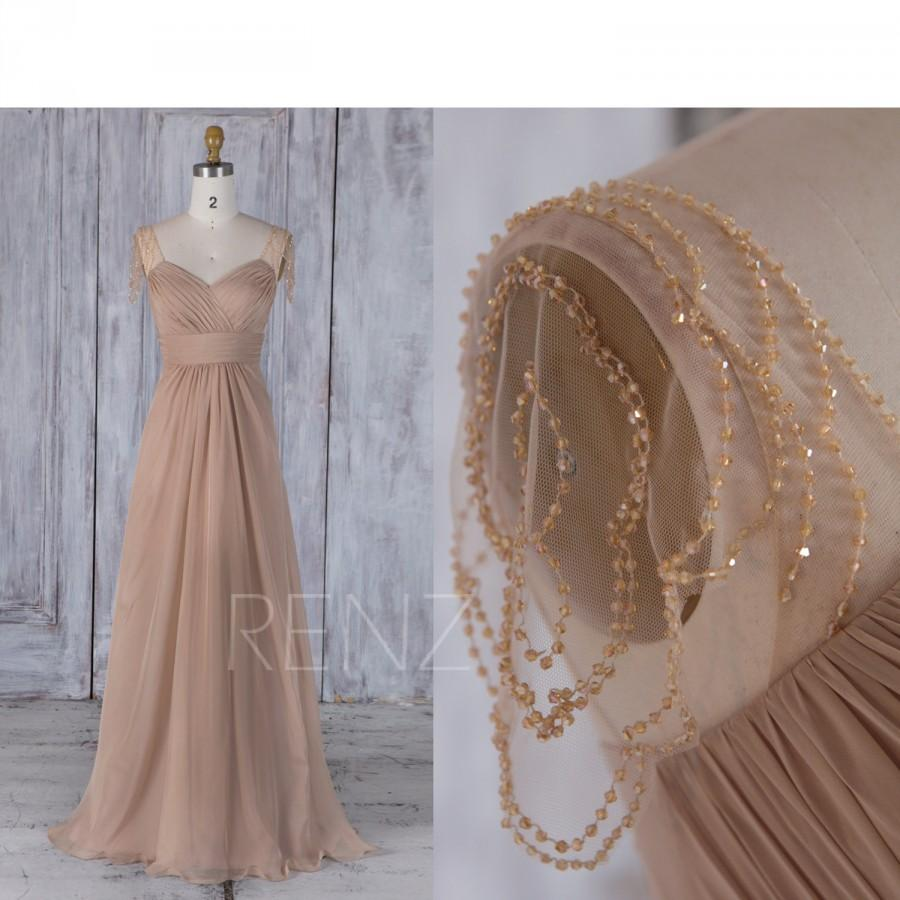 2017 champagne chiffon bridesmaid dress cap sleeves bead mesh 2017 champagne chiffon bridesmaid dress cap sleeves bead mesh wedding dress sweetheart ruffle prom dress a line evening gown full j210 ombrellifo Choice Image