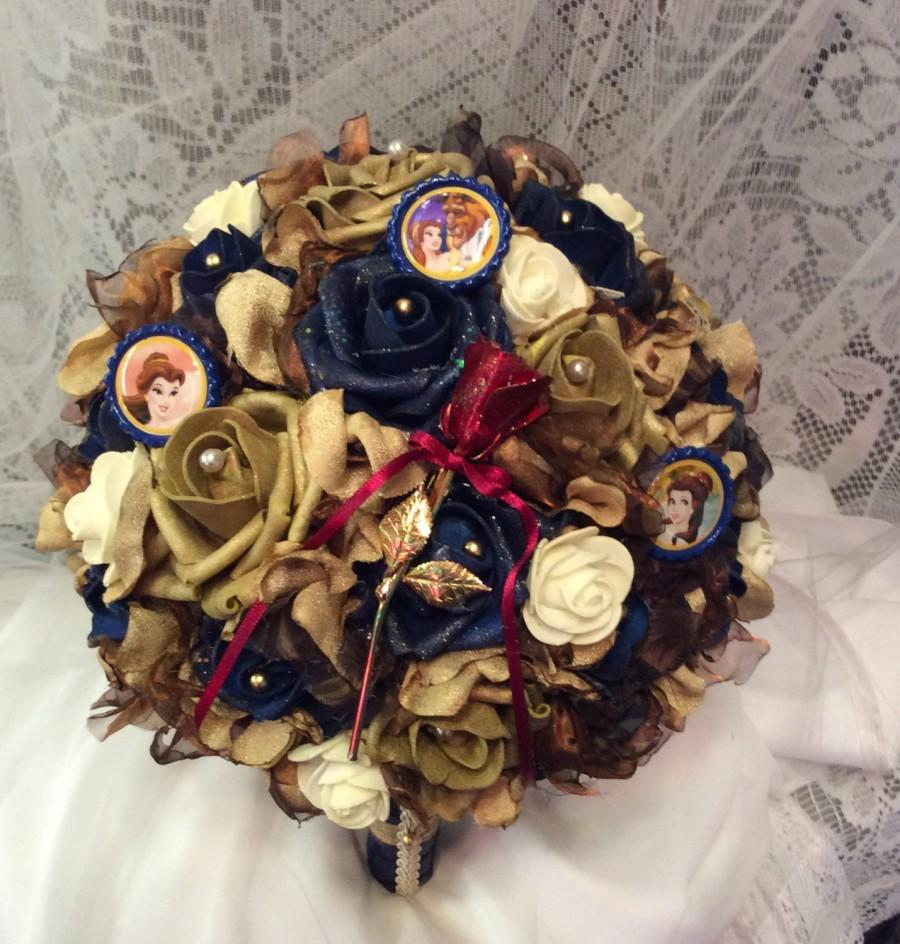 Beauty And The Beast Wedding Flower Bouquet-Alternative Wedding ...