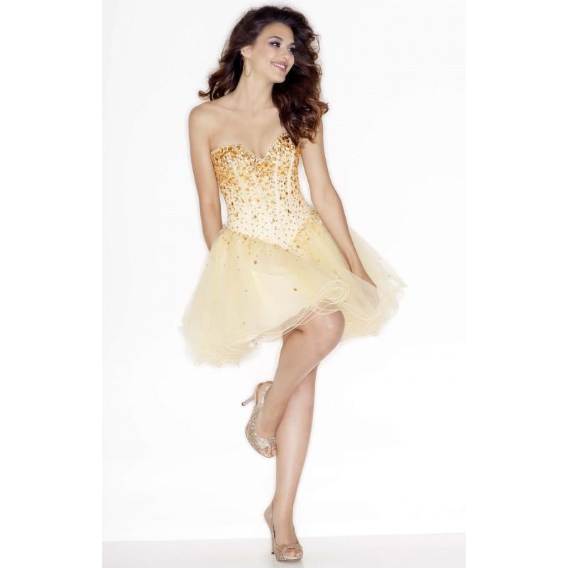 Свадьба - Champagne/Amber Sticks and Stones 9214 - Ball Gowns Crystals Dress - Customize Your Prom Dress