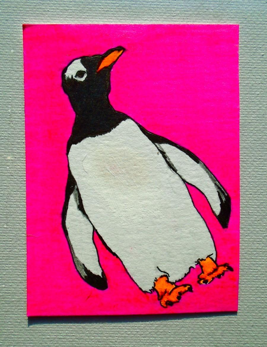 "Boda - Waddle I Do With Myself #220 (ARTIST TRADING CARD) 2.5"" x 3.5""  by Mike Kraus"