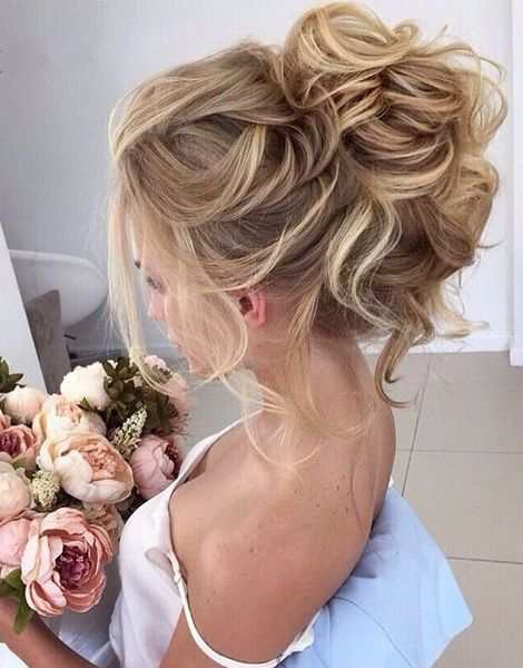 Mariage - Beautiful Loose High Bun Wedding Hairstyles 2017