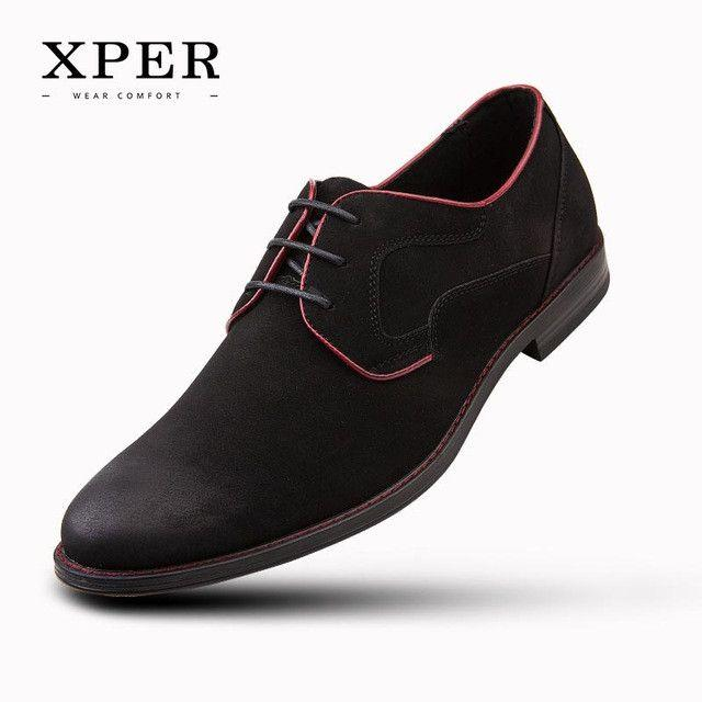 Nozze - Casual Men Dress Shoes Lace-Up Wear Comfortable Men Shoes