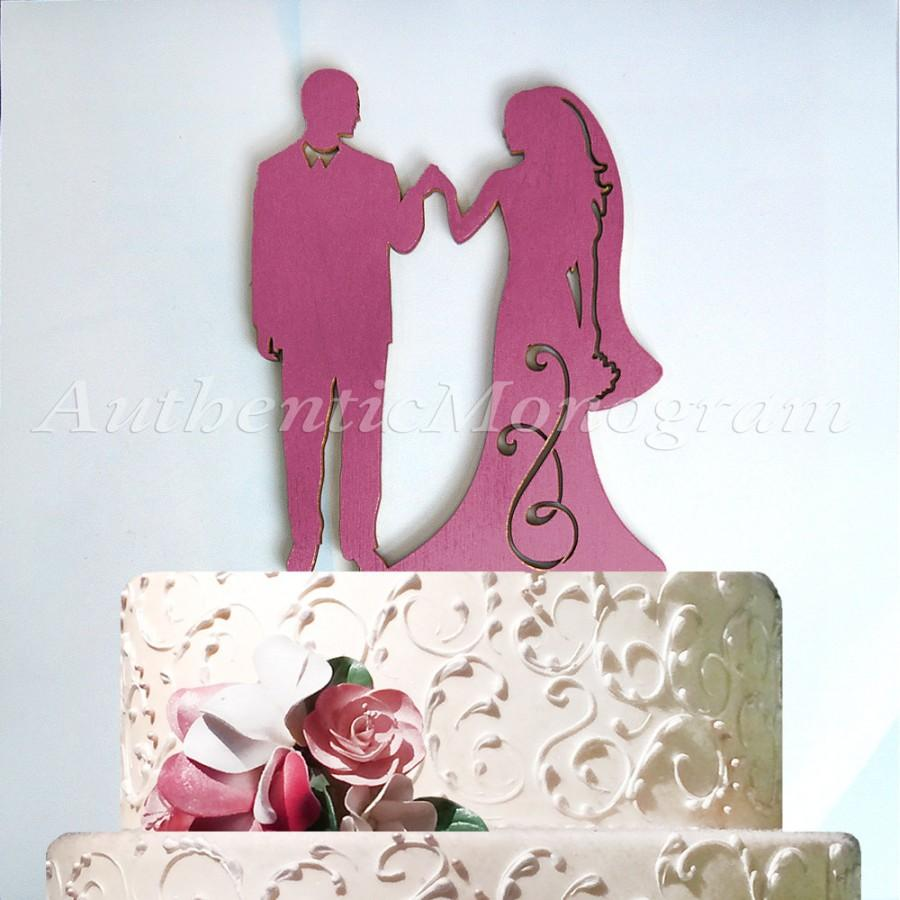 Wedding Cake Topper - A Husband And Wife Silhouette - Wedding Decor ...