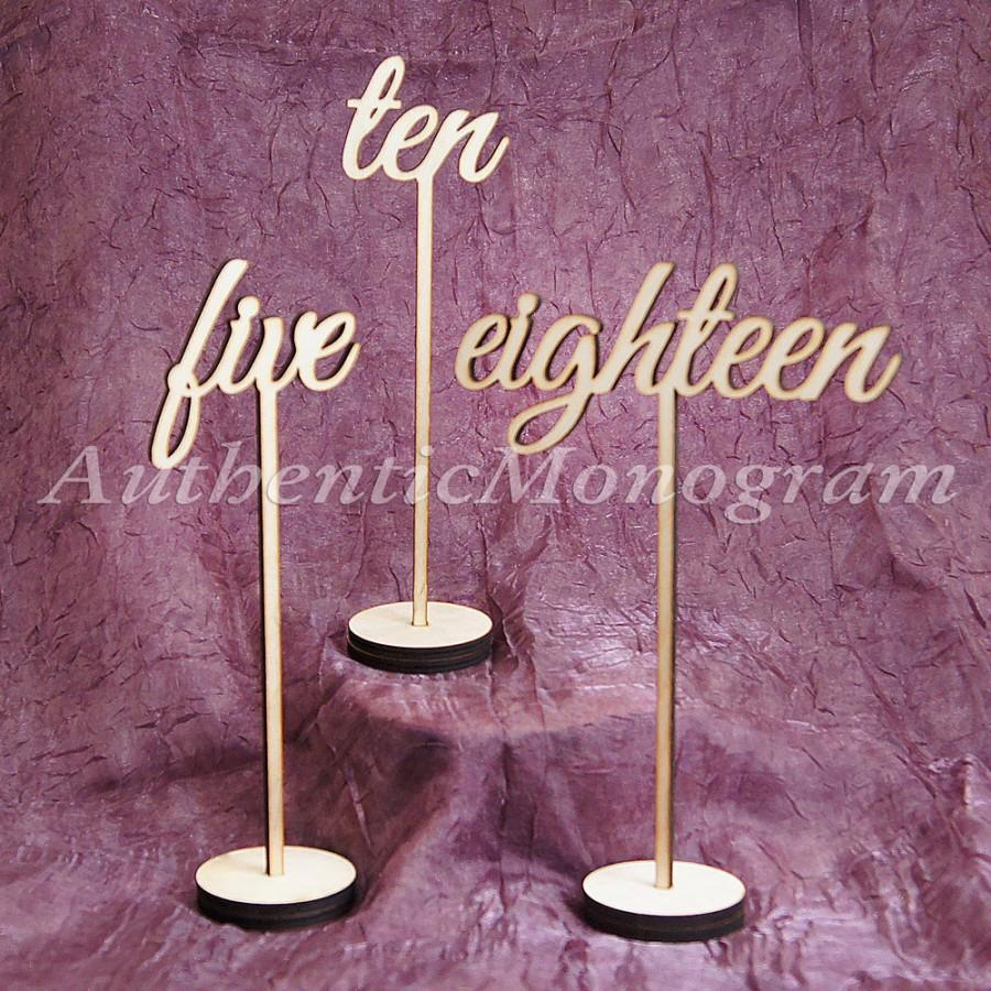 Свадьба - Table Numbers in Sets of 10, Table Top Numbers, Monogram: Home Decor, Wedding Decor Planing, Anniversary, Party Decor 15161