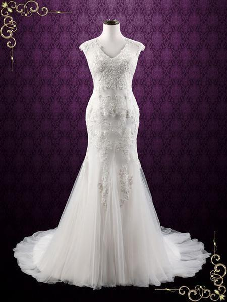 Wedding - Lace Mermaid Wedding Dress With Soft Tulle