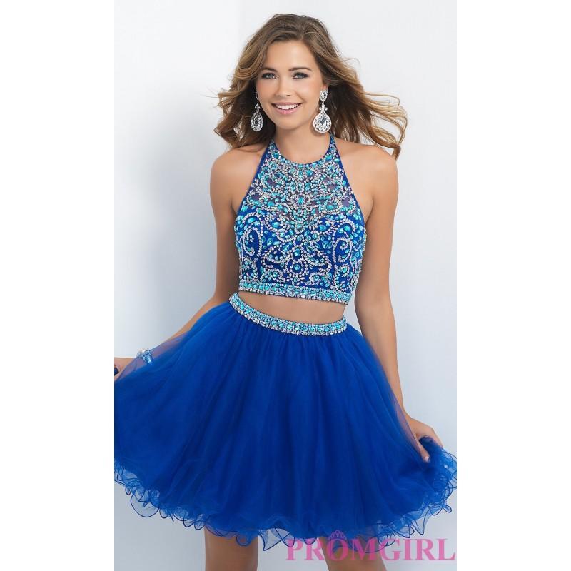 زفاف - Blush Two Piece Homecoming Dress - Discount Evening Dresses