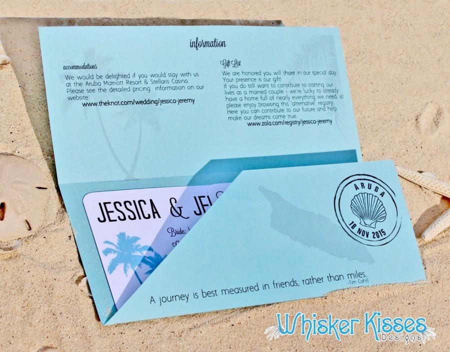 Boarding pass wedding invitation save the date travel for Boarding pass sleeve template