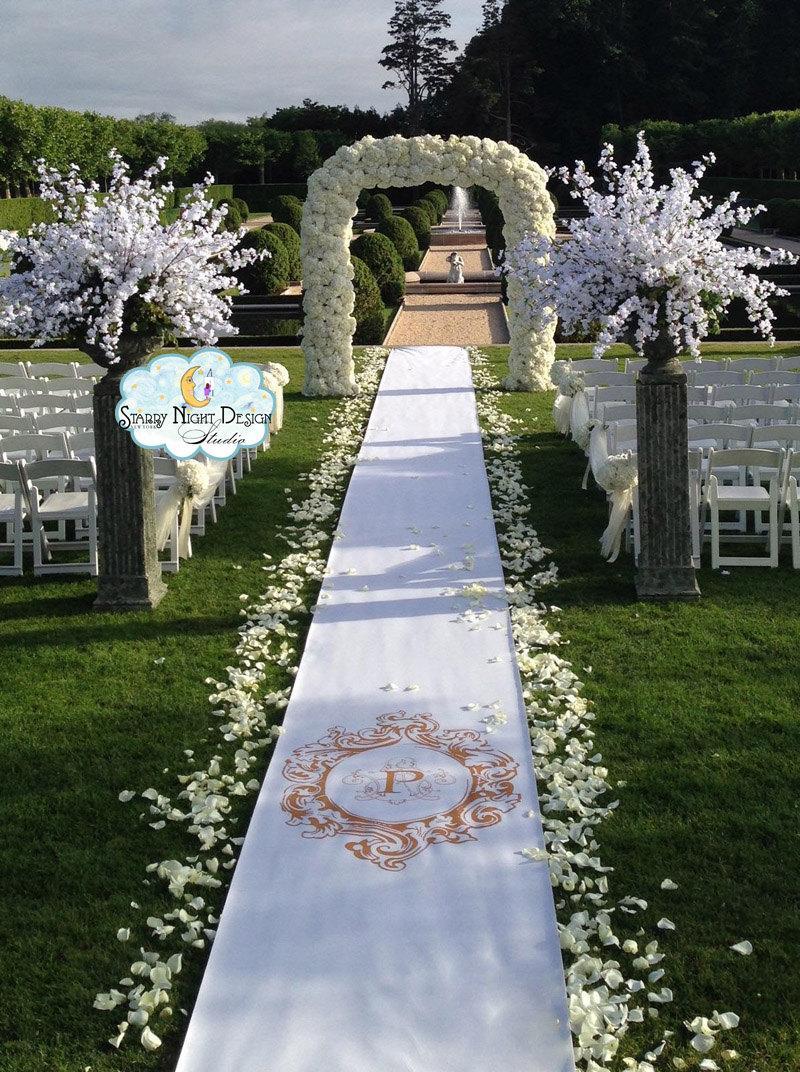 Aisle Runner, Wedding Aisle Runner, Custom Aisle Runner //Non Slip ...