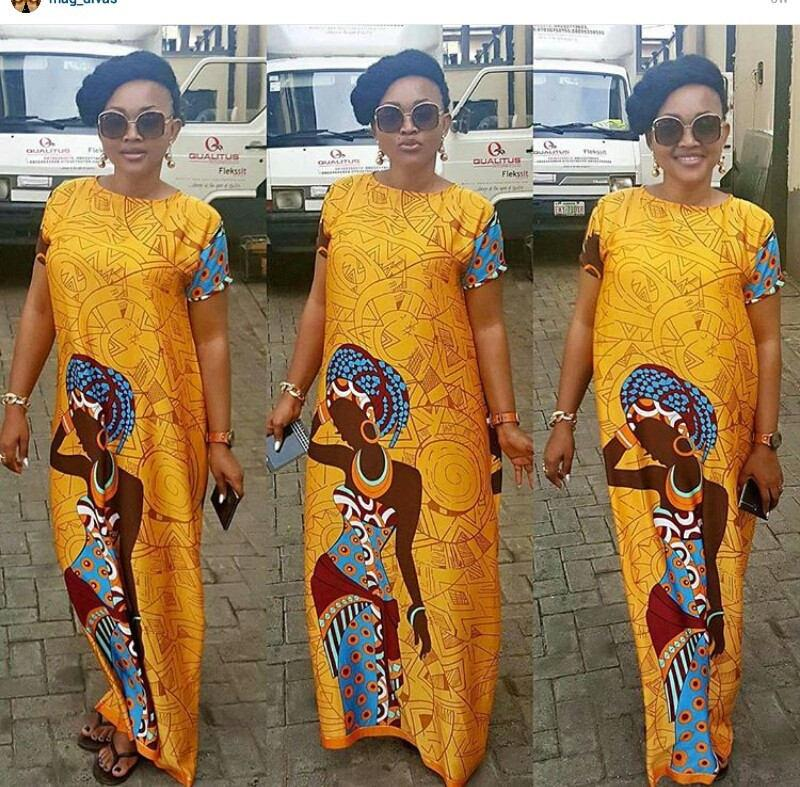 Mariage - African Print  maxi long o-neck For Women, Dashiki Dress, African Dress, African Styles,African fashion,African Fabric,African Clothing
