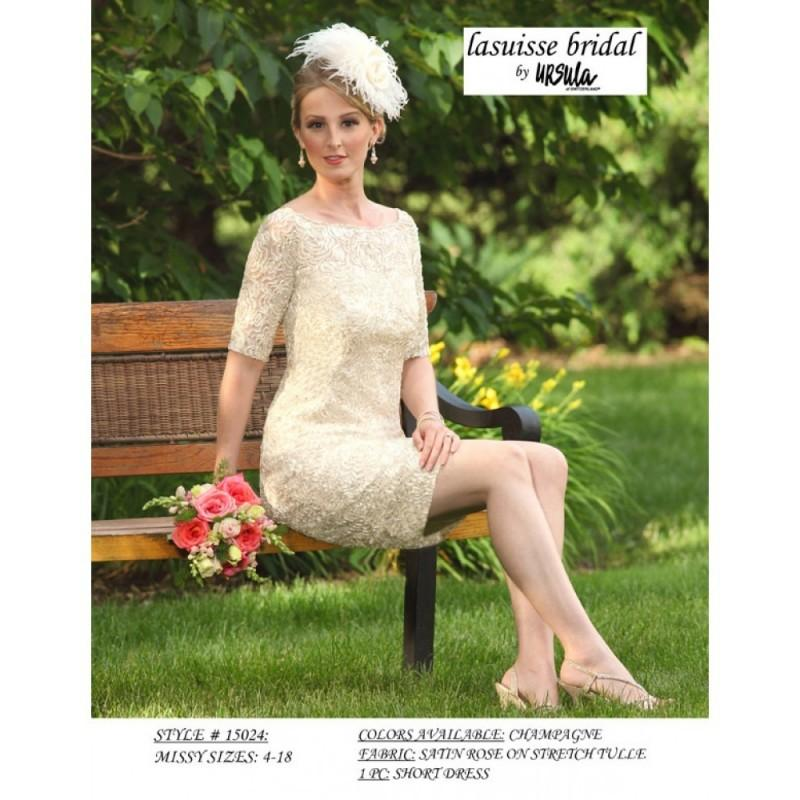 Boda - Ursula of Switzerland 15024 Dress - Fitted Ursula of Switzerland Wedding Scoop Dress - 2017 New Wedding Dresses