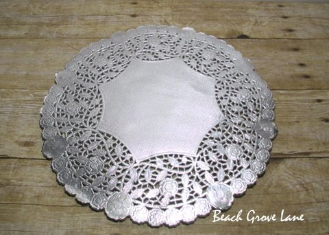 25 Silver Lace Doily Paper Placemats 12 Inch Quanies Of 30 40 Charger For Weddings Bridal Shower Decor Wedding Invitation Trim