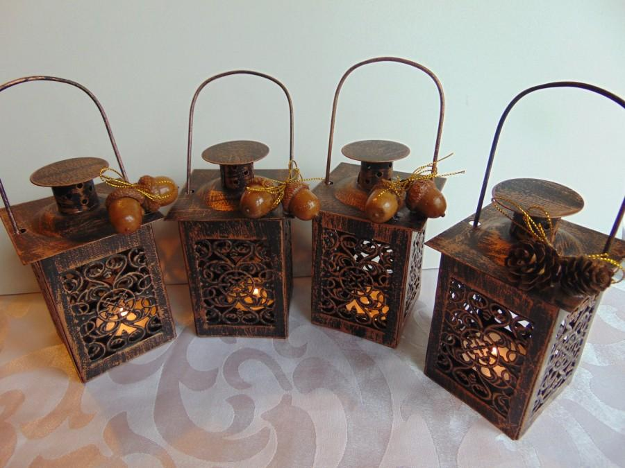 Свадьба - Set of 6 Moroccan candle lanterns,Lanterns,Rustic,Lace Effect lantern,Woodland decor,Metal Candleholder,Beach Wedding,Wedding Centerpiece