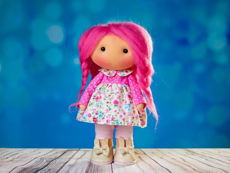 Düğün - The Magic Doll. Doll Ingrid Tilda doll Textile doll. Lovely girl Interior doll. Rag doll Сute doll. Toy. Soft toy. Doll in pink. Summer doll