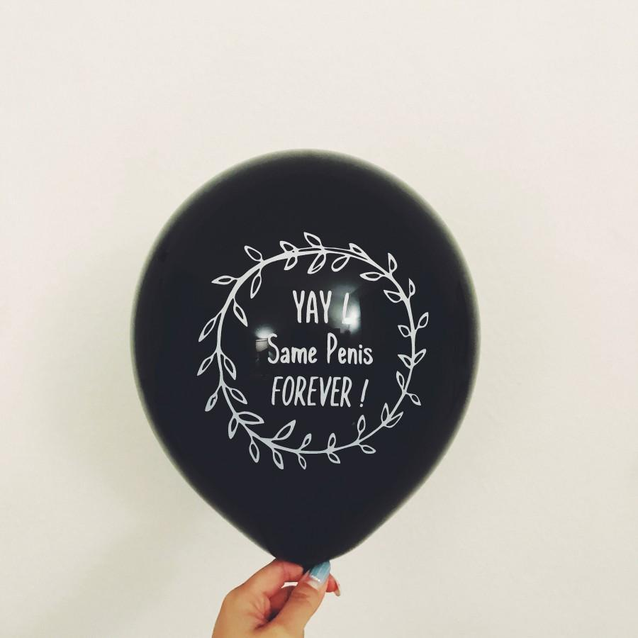 Mariage - Same Penis Forever Balloon Set of 5 Black - Bachelorette Party Decorations -  Bachelorette Balloons - YAY Same Penis Forever