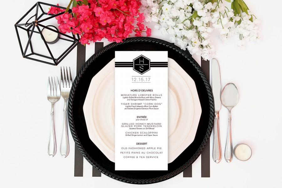 Boda - Retro Style Slim Line Menu Cards