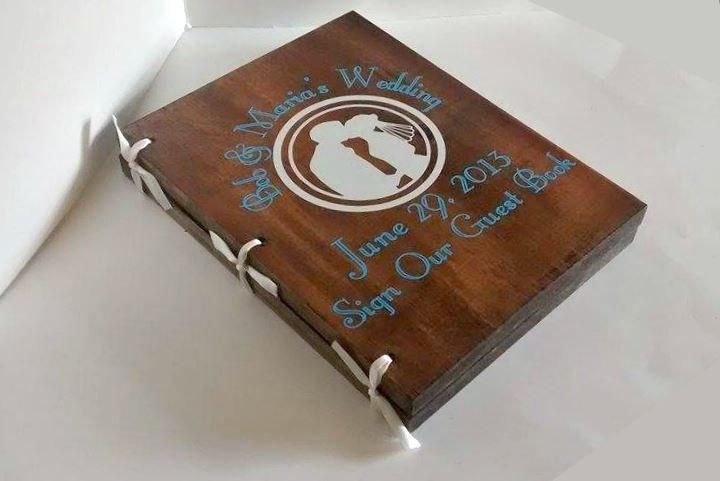 Wedding - Custom Guest Book, Wedding Guest Book, Wedding Guest Journal, Unique Guest Book, Wood Guest Book, Rustic Guest Book, Wedding Notebook,