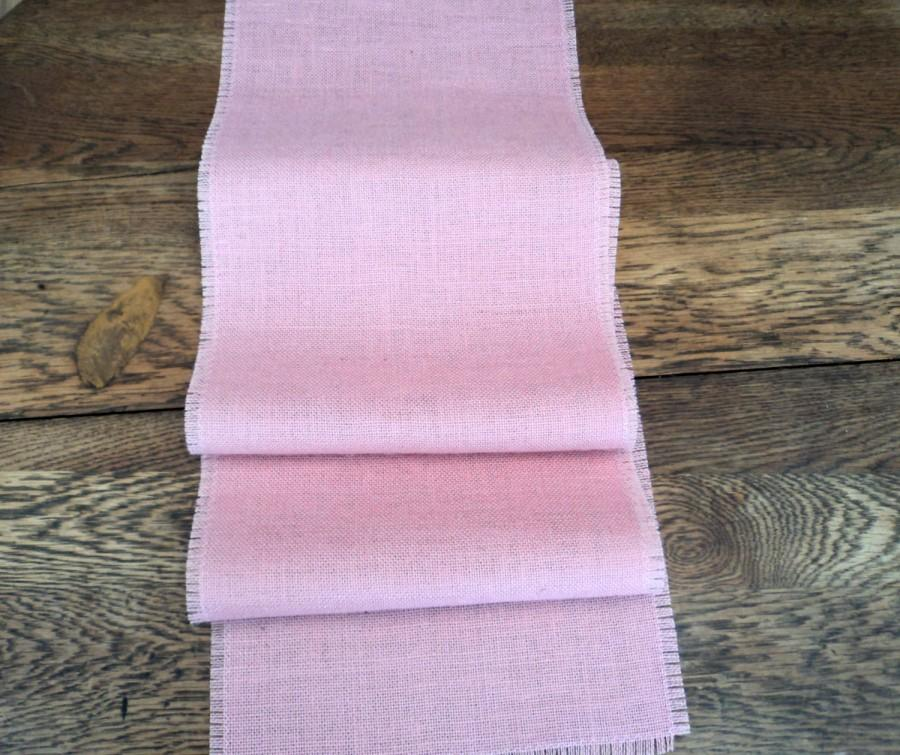 Wedding - Pink Burlap Table Runner Light Pink Table Runner Blush Pink Wedding Decor Baby Girl Shower Decoration Burlap Tablecloth Nursery Decor
