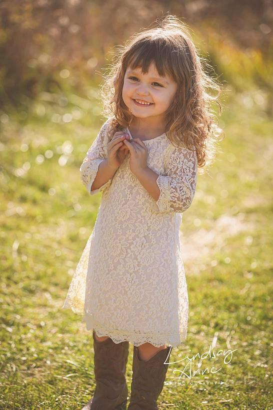 Mariage - The Simply Ivory Lace Flower Girl Dress