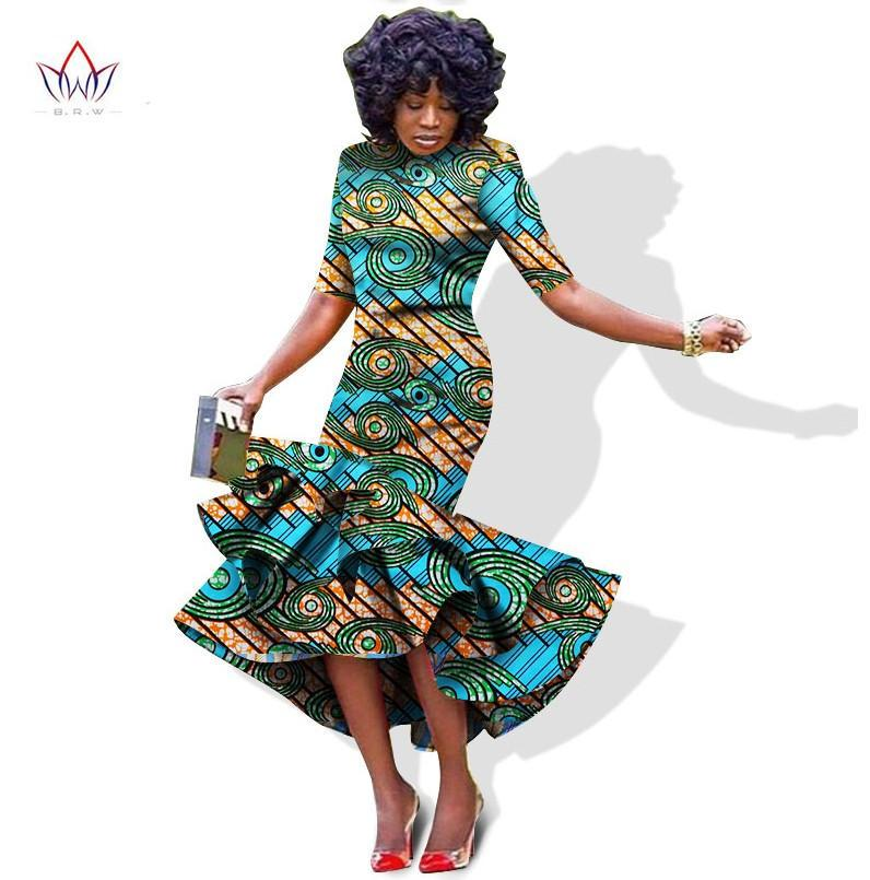 Mariage - African bazin riche pintted Dress For Women, Dashiki Dress, African Dress, African Styles,African fashion,African Fabric,African Clothing