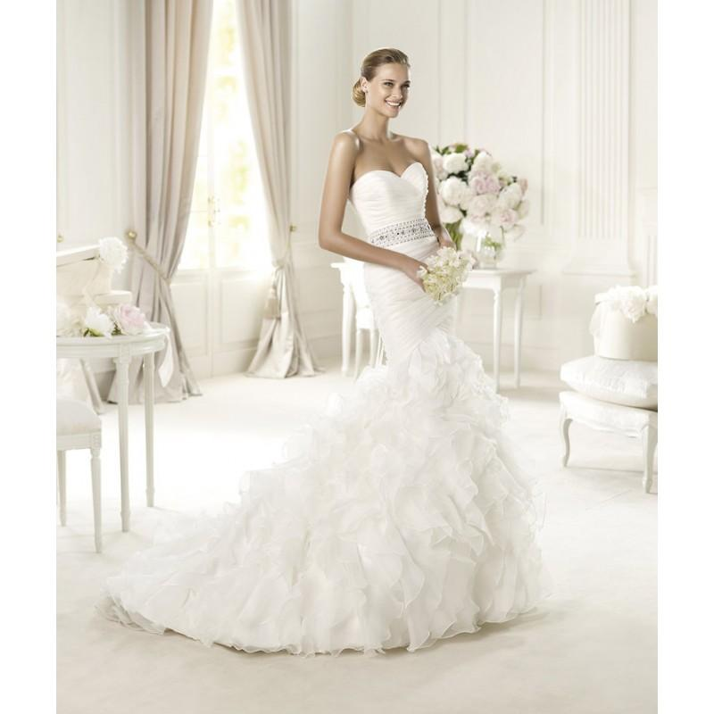 Wedding - Sexy Trumpet/Mermaid Sweetheart Beading Ruffles Sweep/Brush Train Organza Wedding Dresses - Dressesular.com