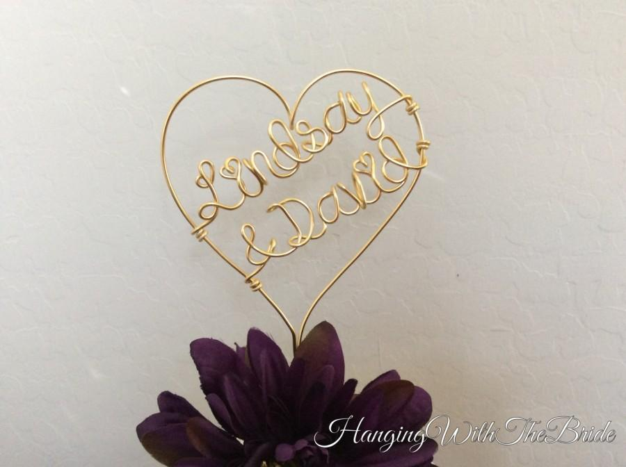 Wedding - Custom Cake Topper - Wedding Cake Topper, Personalized Cake Topper, Unique Wedding Gift