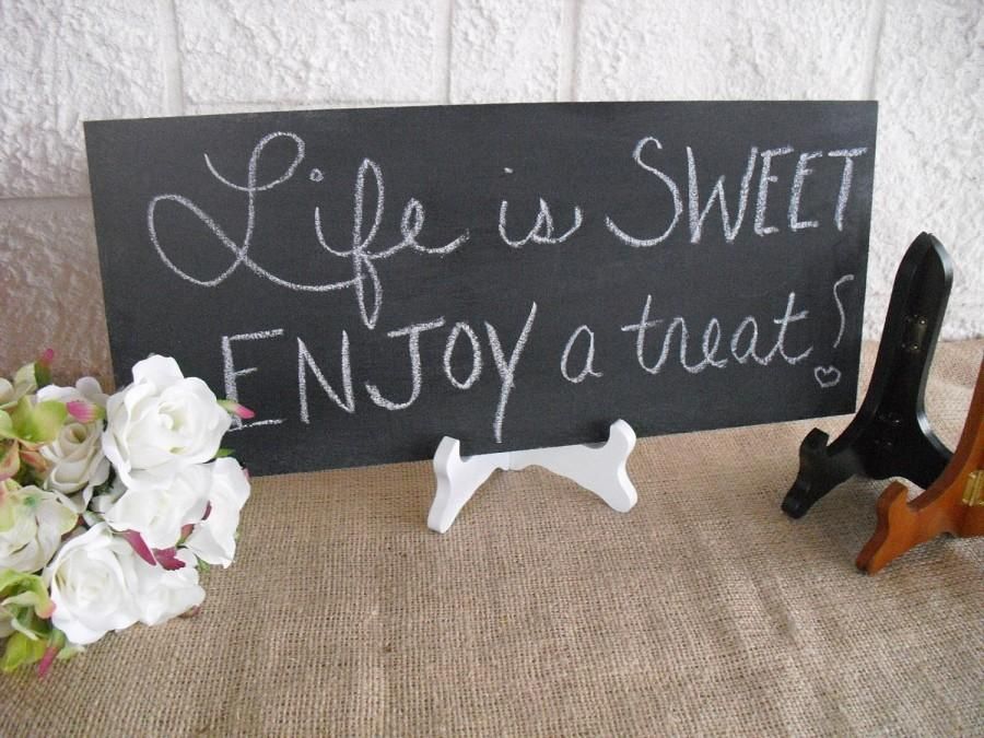 Boda - ONE Frameless Rustic Chalkboard with EASEL for Wedding Signs Photo Props - Item 1176