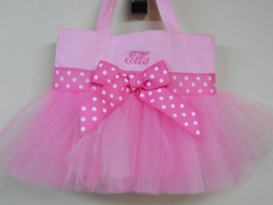 Düğün - Princess party gift. Toddler tote bag, tutu tote bag, Ballet bag, Embroidered Dance Bag, Naptime 21, Personalized MINI Ballet Bag  MTB849 BP