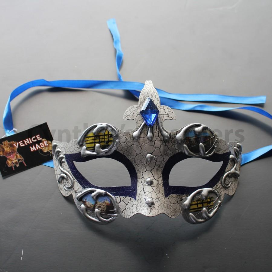 Düğün - Royal Blue Classic Princess Venetian Masquerade Prom Ball Mardi Party Mask, 2Q3A SKU: 6B11
