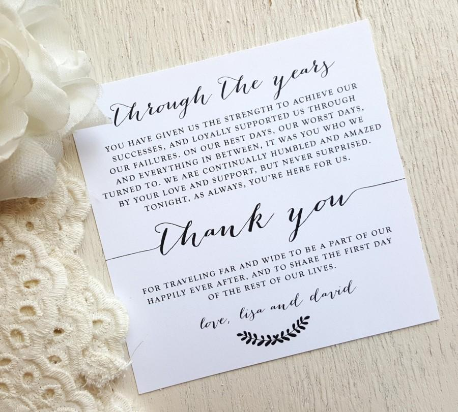 Boda - PRINTED Wedding Reception Thank You Card - Style TY98 - BOMBSHELL COLLECTION