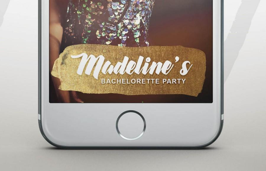 Wedding - Snapchat Bachelorette Filter, Snapchat Geofilter Hen Party, Custom Birthday Geofilter, Personalized Bachelorette Geofilter, Gold Geofilter