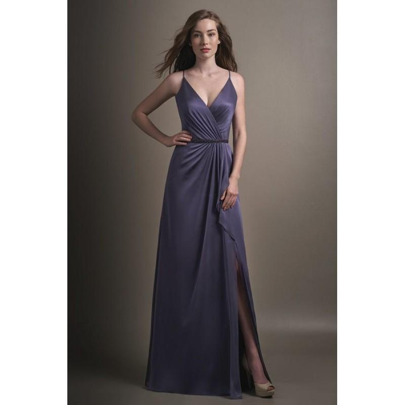 Düğün - Style L194015 by Jasmine Belsoie - Chiffon Floor Straps  V-Neck A-Line Jasmine Belsoie - Bridesmaid Dress Online Shop