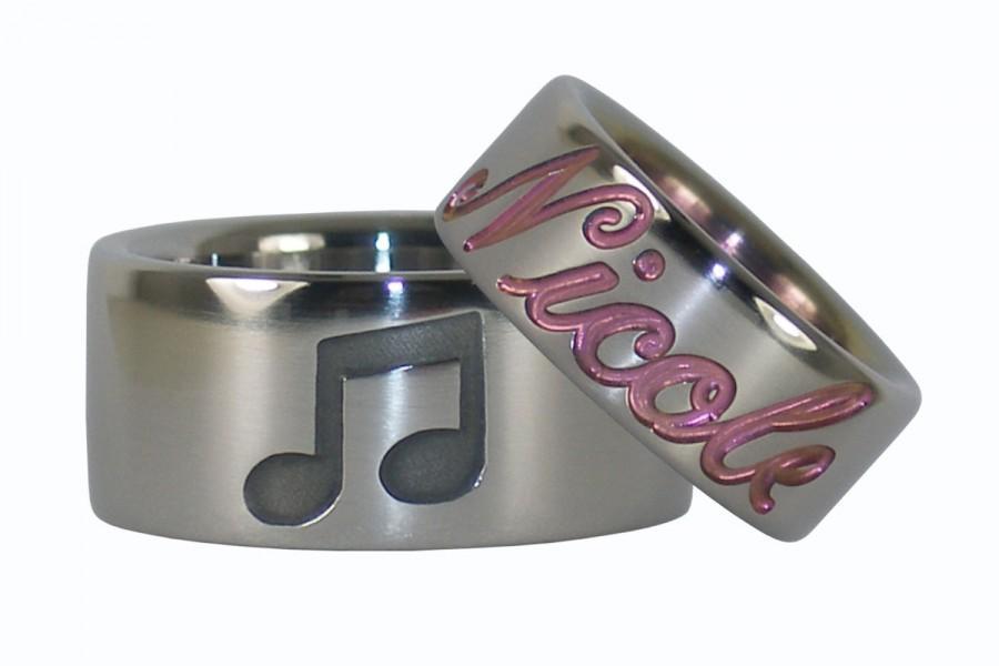 Boda - Musicians Titanium Ring Set