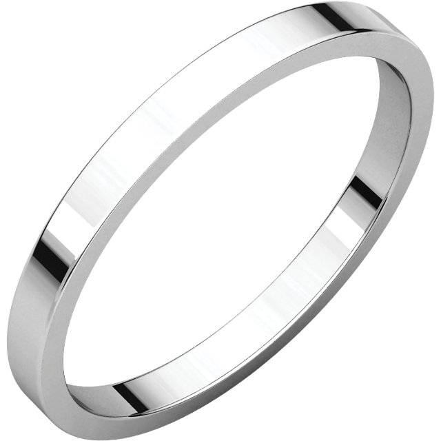 Boda - Platinum 2mm Square Edge Band, Platinum wedding band, Platinum Skinny Band, Stackable Band, Pipe Cut Band