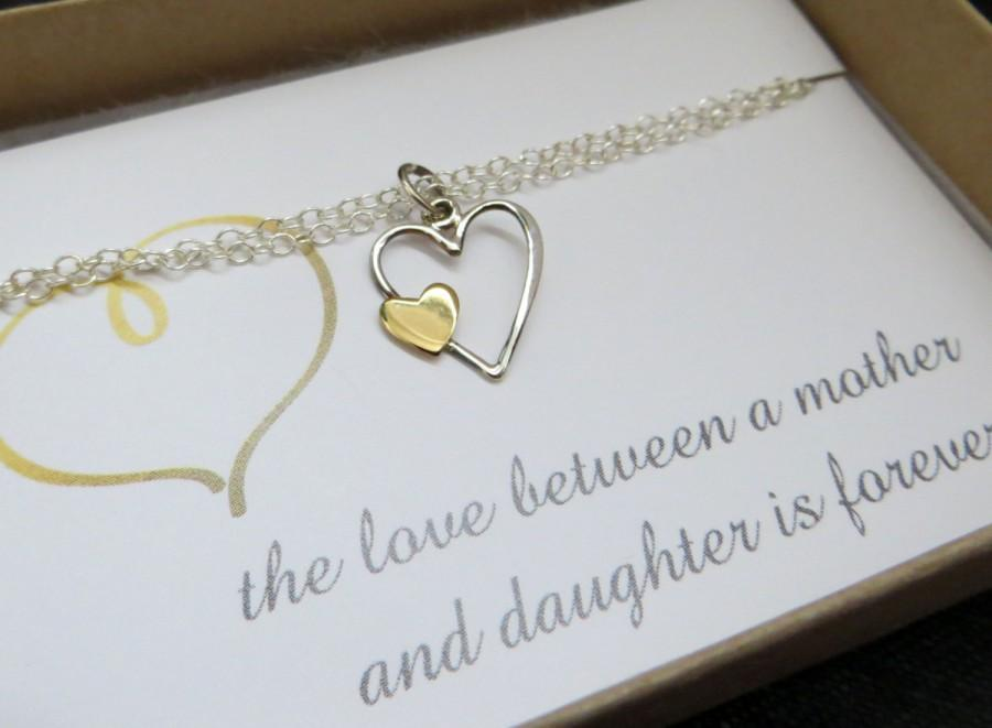 Boda - mother and daughter heart bracelet, gift for mother of the bride, wedding gift, mother daughter bracelet, gift for mom
