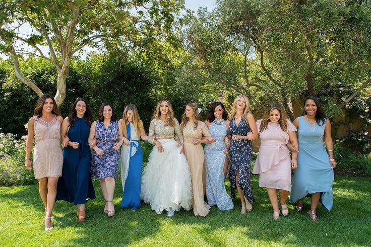 Wedding - 31 Real-Life Bridal Parties Who Nailed The Mix 'N' Match Look